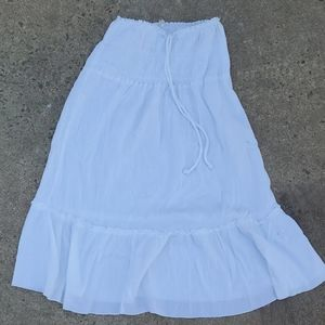 Merona white tiered skirt or dress coverup